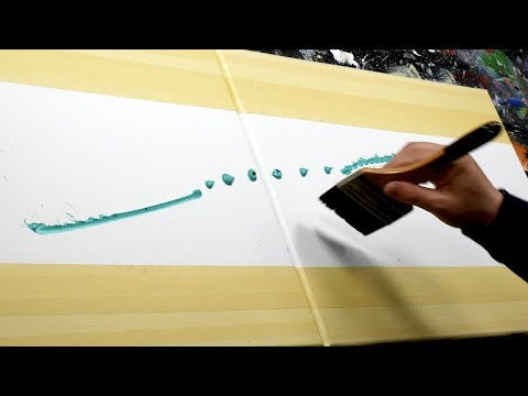 EASY ABSTRACT PAINTING DEMO For Beginners In Acrylics with masking tape | Eternium