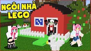 THỬ THÁCH XÂY VÀ SỐNG TRONG CĂN NHÀ LEGO*CĂN NHÀ LEGO ĐẸP NHẤT TRONG MINECRAFT*Thử thách Panda