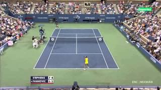Ana Ivanovic vs. Sloane Stephens US Open 2012 Highlights