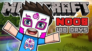 A Noob Survived 100 Days In Minecraft And This Is What Happened...