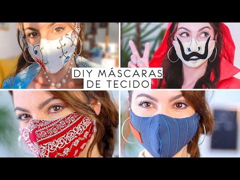 DIY 4 Máscaras de Tecido! Faça você mesmo!