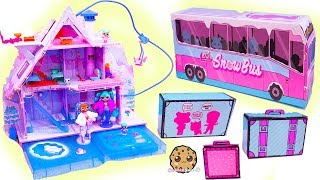 LOL Surprise WINTER Disco Holiday Chalet House + Snow Bus Family - Video