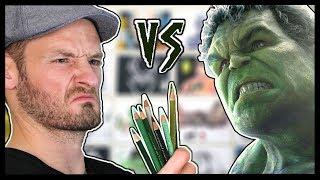 How to Draw Hulk in just 1 Hour ! KitSLAM  vs. Hulk SMASH