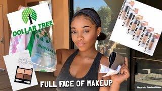 FULL FACE OF DOLLAR TREE MAKEUP | DOLLAR STORE MAKEUP CHALLENGE