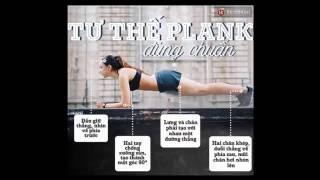 Bài tập Plank - Cách tập cơ bụng 6 múi tại nhà