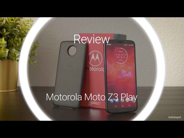 Belsimpel.nl-productvideo voor de Motorola Moto Z3 Play