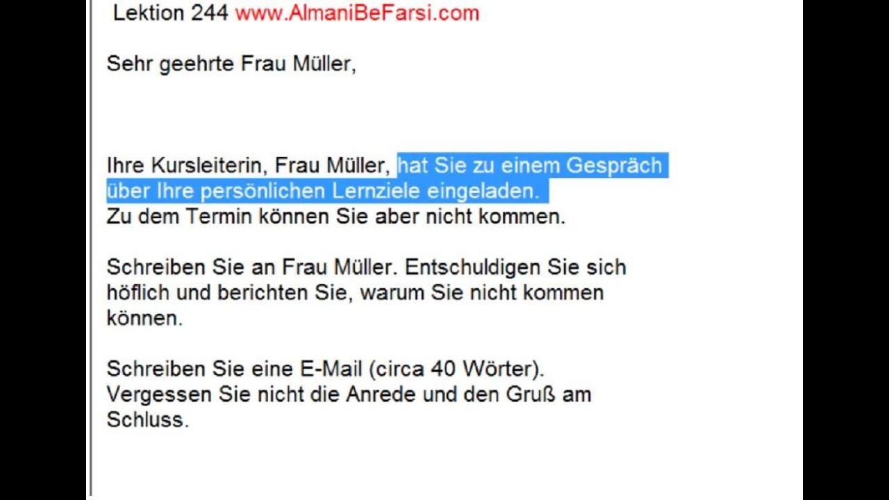 244 Email Oils Contact Usco Ltd Mail: Lektion 244 (Brief Schreiben B1, Aufgabe 3)