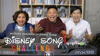Disney Song Challenge - Coco's Anthony Gonzalez vs Jimmy Wong | AJ Rafael