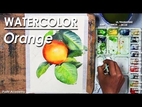 How to Paint Orange in Watercolor