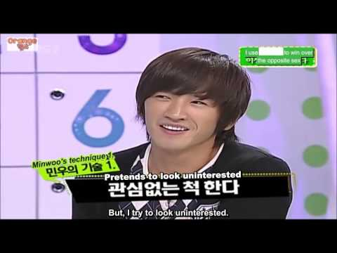 [ENG] Minwoo's techniques to get girls - Part 1