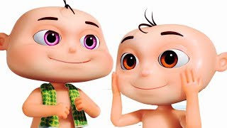 Five little Babies Bathing In A Tub | Learn Body Parts For Babies | Original Learning Songs For Kids