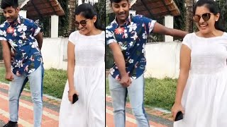 Actress Nivetha Thomas funny dance with her brother..