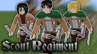 Eren Yeager, Mikasa Ackerman, Armin Arlert trong Minecraft Attack on Titan