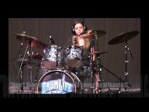 """Don't Stop Believing"" drum cover by Mikaela C.