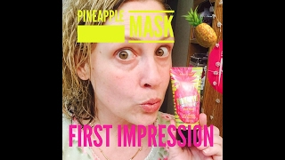 Perfectly Posh Pineapple Mask First Impression {FB LIVE with VIPs}