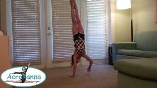 Handstand Shoulder Touch Challenge | Acroanna