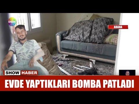 Evde yaptıkları bomba patladı