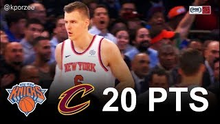 Kristaps Porzingis Full Highlights 2017.11.13 vs Cavs - 20 Pts, 7 Rebs, 1 Ast