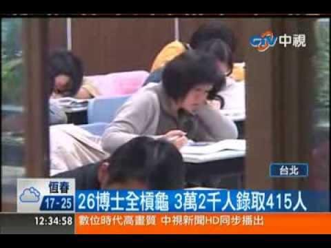 中視新聞》創6年新高! 初考放榜錄取率1.26%