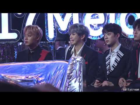 171202 MMA Kang Daniel reaction to JBJ
