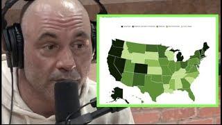 Joe Rogan Reacts to USA Marijuana Laws Map
