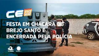 Festa em chácara de Brejo Santo é encerrada pela polícia