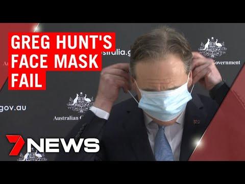Неуспешен обид на Министерот за здравство на Австралија да стави маска на лице