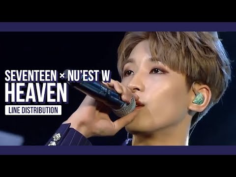 SEVENTEEN & NU'EST W - HEAVEN Line Distribution (Color Coded) | 2017 MAMA in Japan