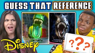 GUESS THAT DISNEY REFERENCE CHALLENGE (React)