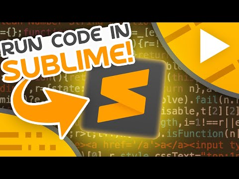 How To Run Code In Sublime Text
