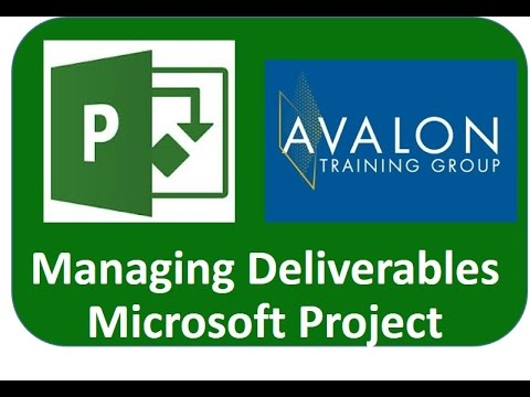 Microsoft Project Deliverables