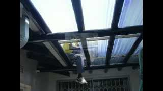 Patio Roof Installation - YouTube