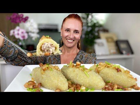 БЕЗ МУКИ и ЯИЦ! Блюдо из картофеля с фаршем ЦЕППЕЛИНЫ Очень  вкусно Люда Изи Кук potato meat dishes