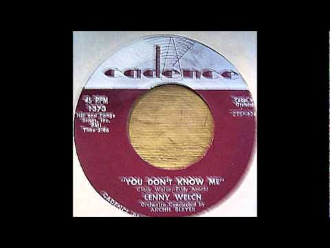 Lenny Welch & Group - You Don't Know Me '60 Cadence-1373..wmv