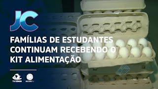 Famílias de estudantes em Fortaleza continuam recebendo o kit alimentação