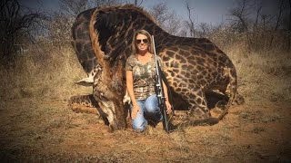 Outrage after American hunter poses with dead giraffe