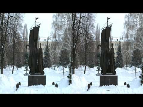 Самара в 3D. Площадь Славы зимой.