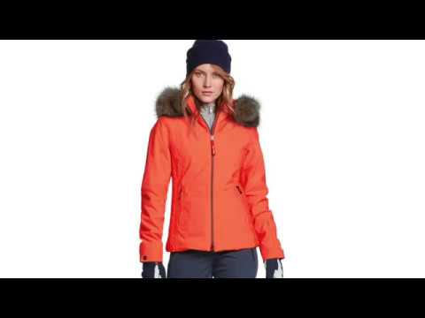 Bogner Elara Womens Ski Jacket in Orange