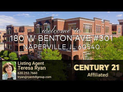 Downtown Naperville Luxury Condo For Rent: 180 Benton Ave Unit 301 Naperville IL 60540   Teresa Ryan