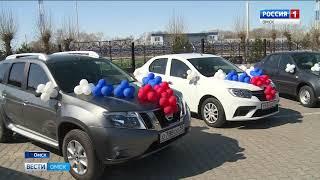 Губернатор Александр Бурков вручил ключи от служебных автомобилей главам районов
