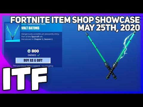 Fortnite Item Shop *NEW* VOLT BATONS PICKAXE! [May 25th, 2020] (Fortnite Battle Royale)
