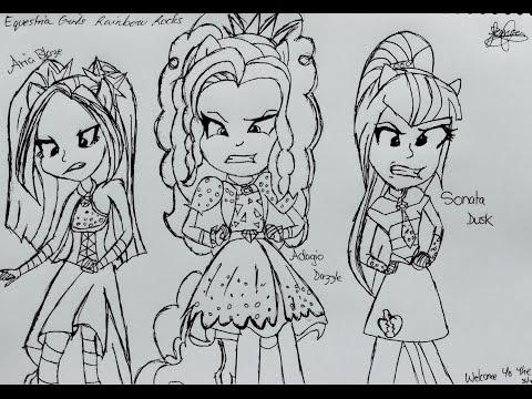 ☆Pen Drawing Sonata Dusk | The Dazzlings | Equestria Girls Rainbow ...