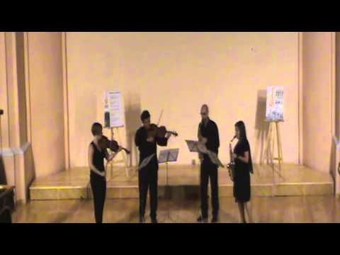 Zavasax con María Moros y Alberto Romero - Chaccona by J.S.Bach