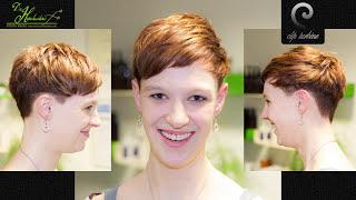 medium wavy hair to short pixie haircut  extreme makeover by jacky @ die haarschneiderei