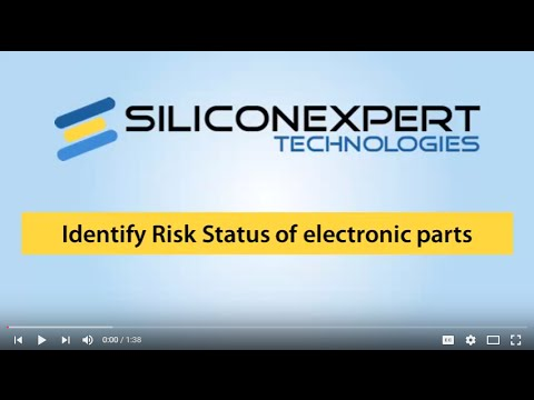 Determining risk status of electronic components