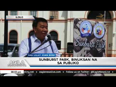 Sunburst Park, binuksan na sa publiko sa Iloilo City