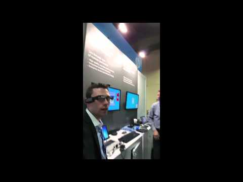 SpeechTrans HP MyRoom Wearable Demo at InterOP 2015
