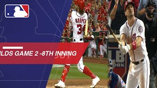 Watch the eventful eighth inning of the Cubs-Nationals NLDS Gm2