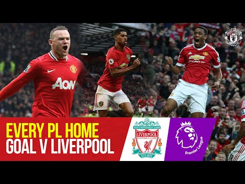 Tous les buts à domicile en Premier League contre Liverpool | Ronaldo, Rooney, Solskjaer, Fernandes |
