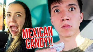 TRYING MEXICAN CANDY!! (SECRET BIRTHDAY VACATION REVEAL!)